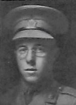 Photo of Kenneth Ian Somerville– Ltn K Sommerville as depicted in the December 1918 edtion of The Christmas Echo published in London Ontario --And in the Morning