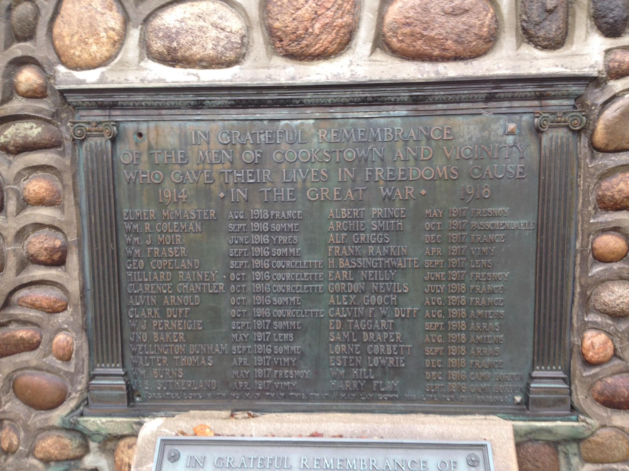 Memorial– Cookstown Cenotaph