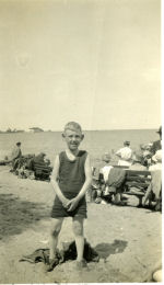 Family Photo– Monty Westmacott (Belle and Stan's son) probably at Gimli Beach in Manitoba