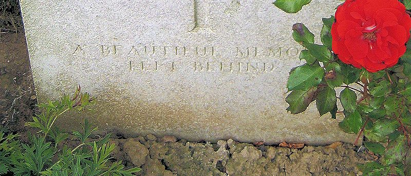 "Inscription– Inscription: ""A Beautiful Memory Left Behind""    (John & Anne Stephens 2013)"