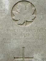 Grave Marker– Photo BGen G. Young 15th Battalion Memorial Project Team   DILEAS GU BRATH.