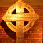 Memorial– The Vimy Cross was returned to the  48th Highlanders after the war by the CWGC and currently rests in a place of honour in their Regimental Museum.  All the names of those 15th Battalion members killed during battle at Vimy Ridge remain clearly visible on the cross.  Photo by BGen (ret) G Young and submitted by Capt (ret) V Goldman of the 15th Battalion Memorial Project.  DILEAS GU BRATH