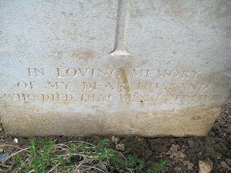 Inscription – (John & Anne Stephens 2013)