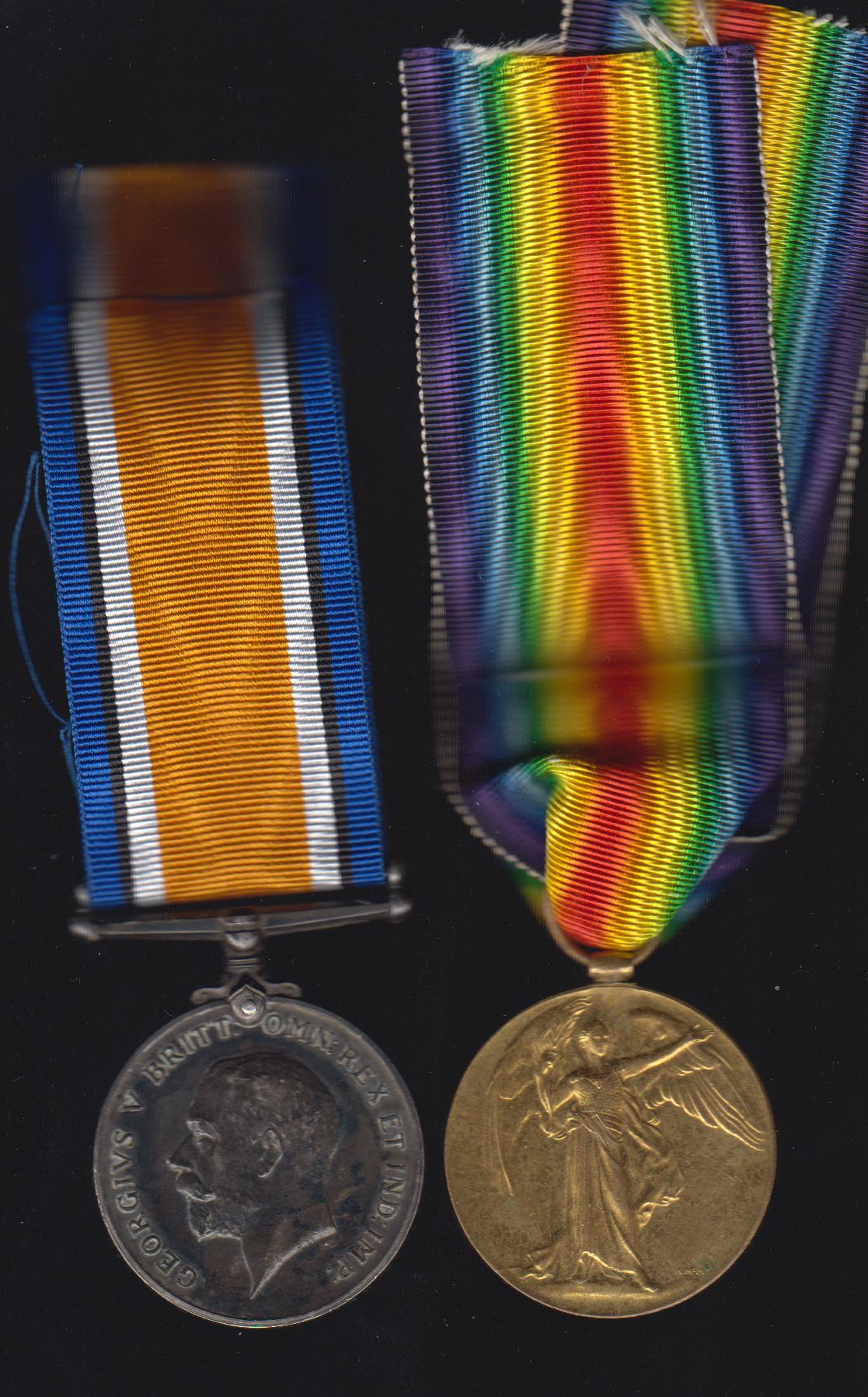Medals– Medal Pair to #192865 Pte George Edward Manning, KIA 09 Apr 17, first day of the Battle of Vimy Ridge. Remember him.  Picture posted anonymously as should be.