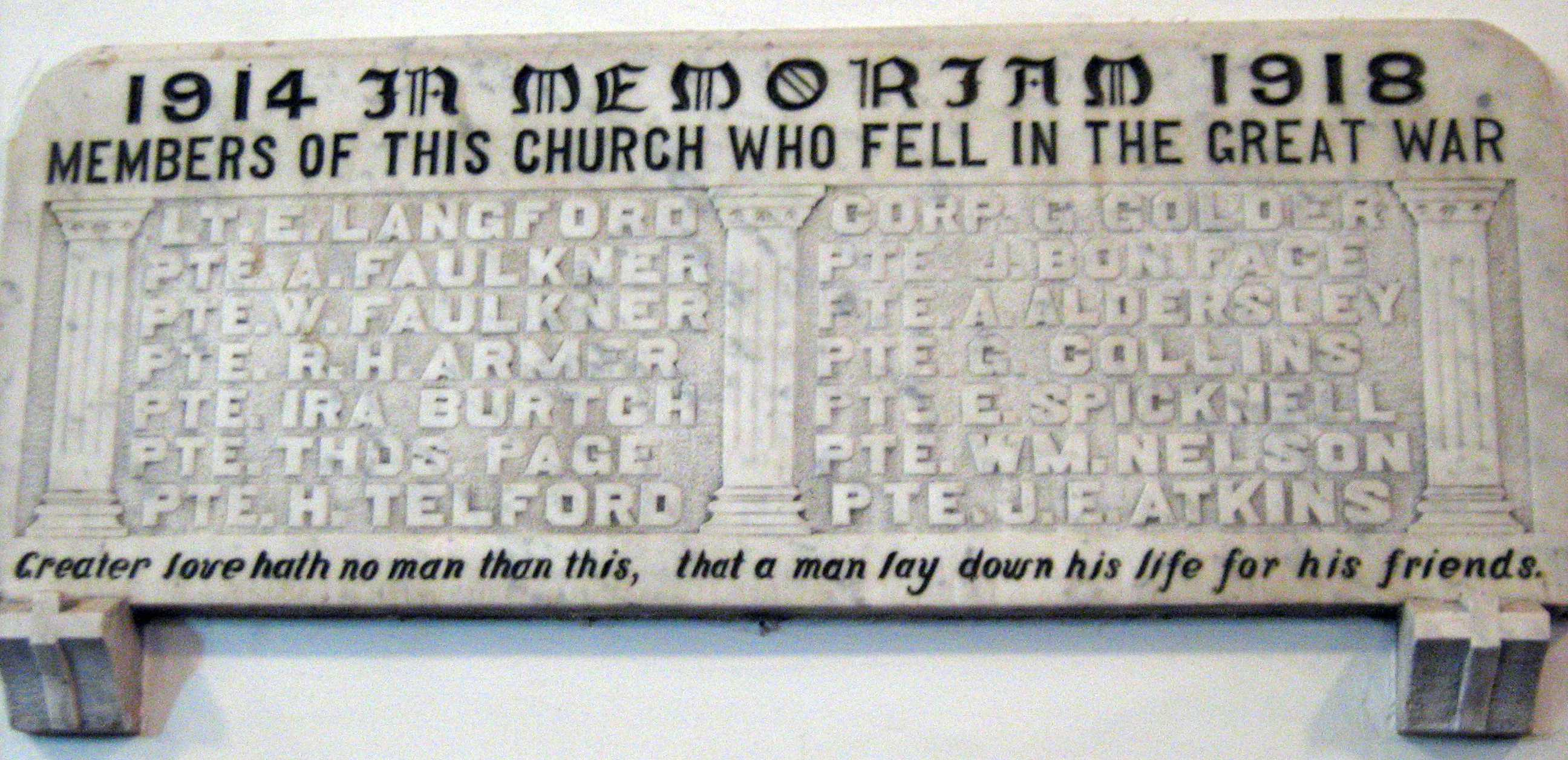 Honour Roll– William is included on the WW1 Memorial Honour Roll that was displayed in Christ Anglican Church in London. This church has been sold and is occupied by another denomination. Not sure of the location of the actual memorial. Photo is from a survey done by summer students working for Professor Jonathan Vance of Western University.