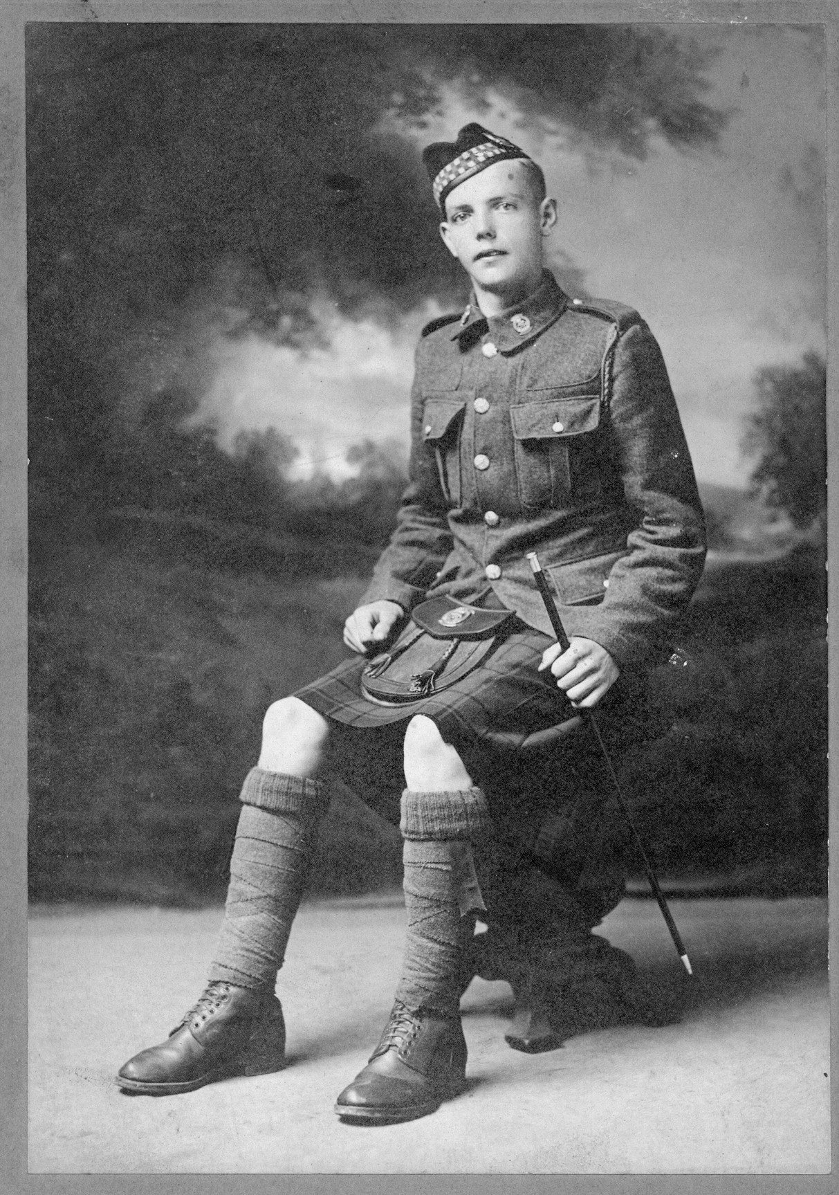 Photo of John Owens– 799098 Pte John Owens originally 134th Battalion (48th Highlanders); transferred to the 15th Battalion (48th Highlanders) No. 1 Company and KIA at Vimy on 9 April 1917.