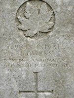 Grave marker– Gravemarker. Photo BGen G. Young 15th Battalion Memorial Project Team