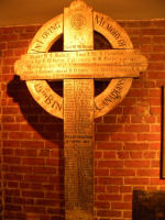 Vimy Cross– The Vimy Cross was returned to the  48th Highlanders after the war by the CWGC and currently rests in a place of honour in their Regimental Museum.  All the names of those 15th Battalion members killed during battle at Vimy Ridge remain clearly visible on the cross.  Photo by BGen (ret) G Young and submitted by Capt (ret) V Goldman of the 15th Battalion Memorial Project.  DILEAS GU BRATH