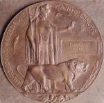 Plaque– Frederick Robert's bronze plaque.
