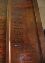 Inscription– George's name commemorated on the Roll of Honour. He was the son of William Spencer who lived at 62 Ferry St., Stapenhill near Burton-on-Trent and was an Engineer by occupation.  He enlisted on 23rd September 1914 at Valcartier.