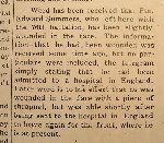 Newspaper Clipping– This notice appeared in the Burlington Gazette (Burlington, Ontario, Canada) on November 29th, 1916.