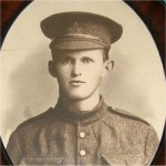 Photo 3 of William James Wilkinson– A very beautiful framed (and 'touched-up') photograph of 'Willie'wearing his soft peak cap with 24th Battalion Badge.