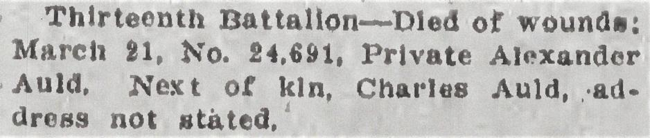 Newspaper clipping– From the Daily Colonist of April 9, 1915. Image taken from web address of https://archive.org/stream/dailycolonist57y103uvic#mode/1up
