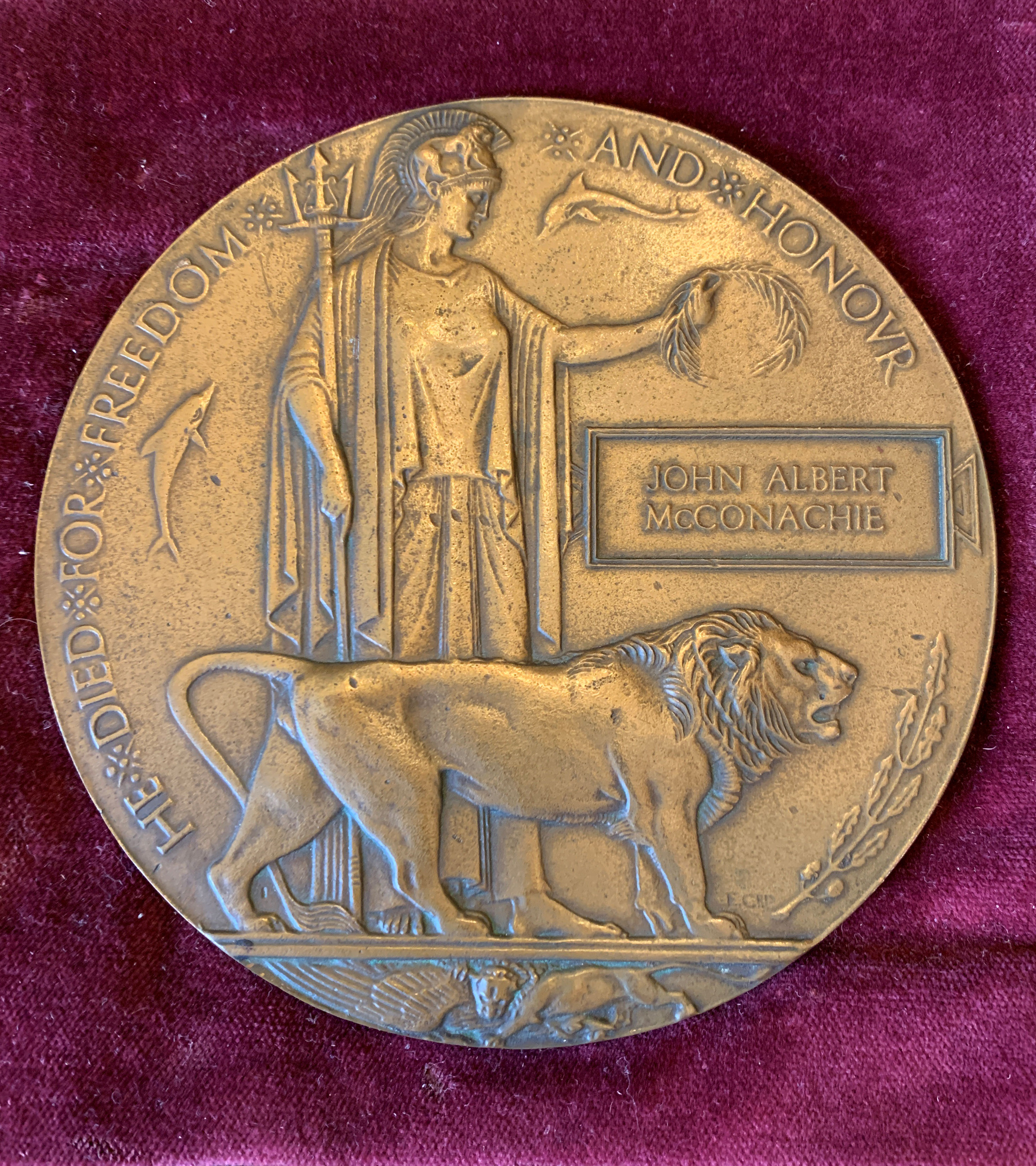 Memorial Plaque– My father had this hanging on his wall ever since I can remember and I would like it to be returned to a family member.