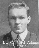 Photo of Coleman Adams– From: The Varsity Magazine Supplement published by The Students Administrative Council, University of Toronto 1916.  