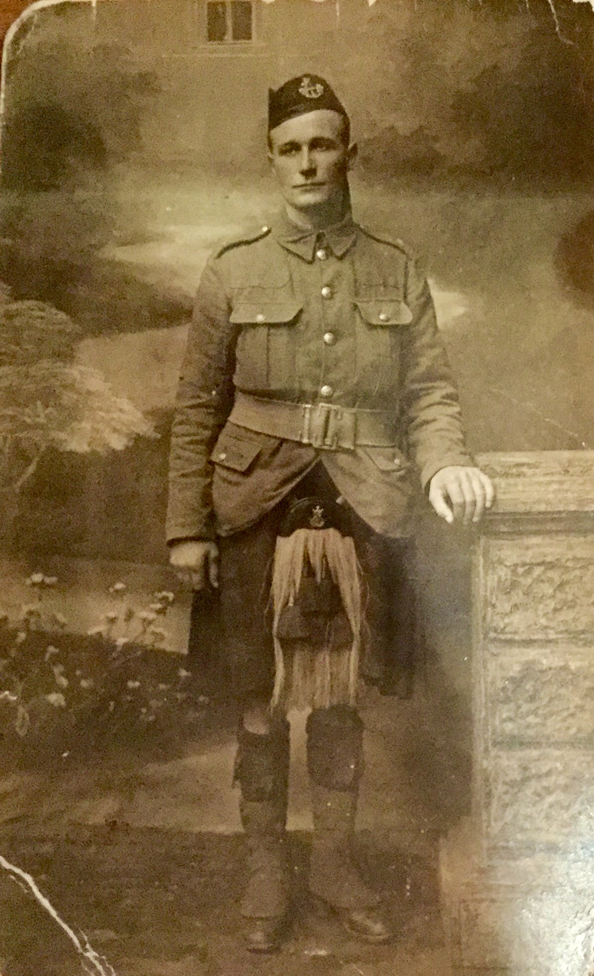 Photo of John Twamley– This was my great uncle. He emigrated to Canada before WWI and fought with the Canadian Highlanders. We are very proud of him.