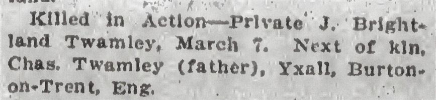 Newspaper clipping– From the Daily Colonist of March 25, 1915. Image taken from web address of https://archive.org/stream/dailycolonist57y90uvic#mode/1up