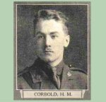 "Photo of Henry Maurice Corbold– From ""The War Book of Upper Canada College"", edited by Archibald Hope Young, Toronto, 1923.  This book is a Roll of Honour including former students who served during the First World War."