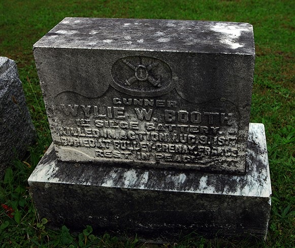 Memorial– Memorial stone erected at the Booth Family plot in the Ingersoll Rural Cemetery, Ingersoll Ontario