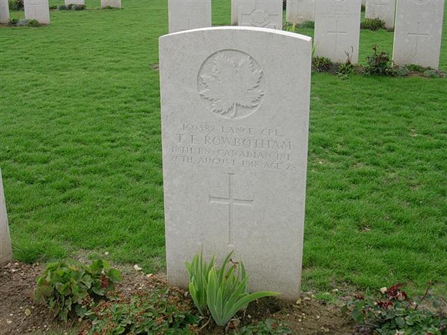 Grave marker– Contributed by E.Edwards www.18thbattalioncef.wordpress.com