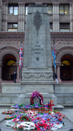 Memorial– The memorial tablet for the City of Toronto employees is located through the doors of Old City Hall, Queen Street, Toronto, Ontario. Pte. Charles Kirkness' name is included on this memorial.