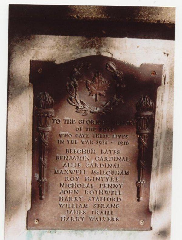 Commémoratif Plaque