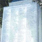 Close up of Sons of England War Memorial– Frederick George Champ's name is included on the SOE War Memorial.