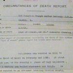 Death Certificate– Submitted for the project, Operation: Picture Me