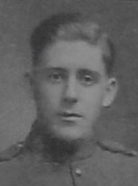 Photo of Chester Gordon Johnson– Pte Chester G Johnson as shown in the December 1918 edition of The Christmas Echo published in London Ontario --And in the Morning