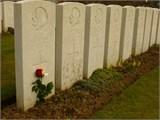 Grave marker– Albert Rennie's grave at Sain-en-Gohelle, France (taken April 2013)  Short story I wrote about Albert:   http://www.cbc.ca/bcalmanac/feature/2012/11/07/terms-of-engagement/