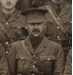 Photo of Henry Campbell Becher– From an official group portrait of the officers of the 1st Canadian Battalion (Western Ontario) taken at Bustard Camp, Salisbury Plain in December 1914.