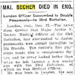 """Newspaper Clipping– Toronto Star """"Pages of the Past"""" online 1915, Dec. 27  p.5"""