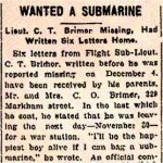 Newspaper Clipping 3– Newspaper Clipping regarding Charles T. Brimer's last letters home.