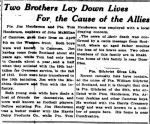 Newspaper article– The Camrose Canaian May 17 1917