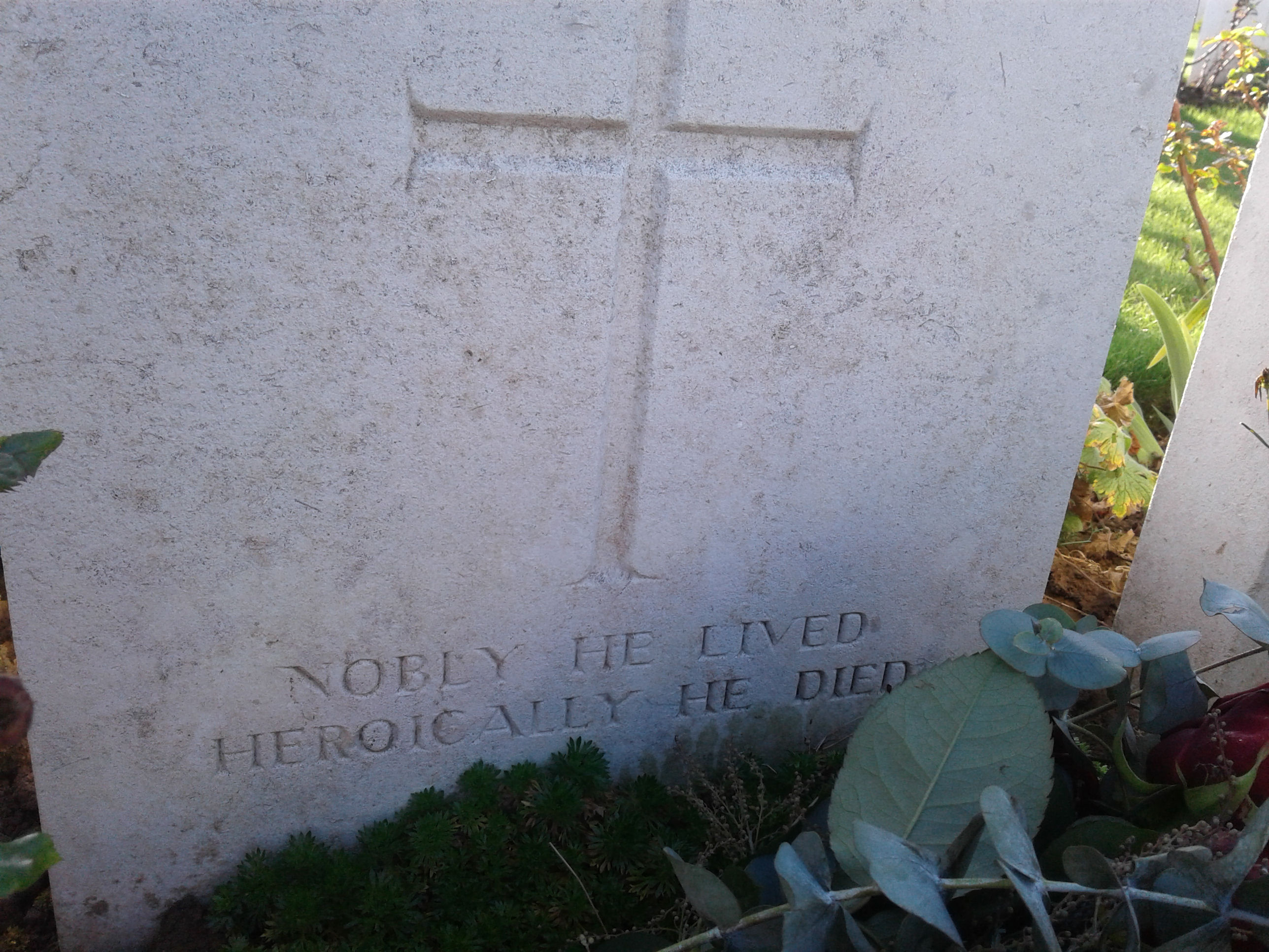 Grave Marker– Tombstone at Quartre Vents Military Cemetery