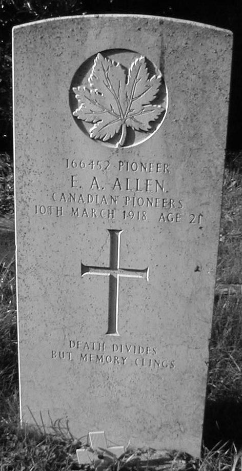 Headstone of Alfred E. Allen