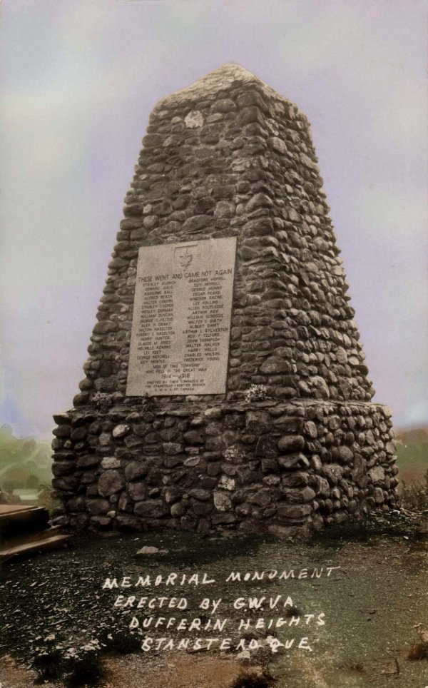 The Stanstead Quebec War Memorial.