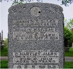 Monument– Pte. Charles Hartley Allen is remembered on the Allen family memorial, Greenwood Cemetery, Burlington, Ontario.