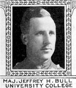 Photo of Jeffrey Bull– From: The Varsity Magazine Supplement Fourth Edition 1918 published by The Students Administrative Council, University of Toronto.   Submitted for the Soldiers' Tower Committee, University of Toronto, by Operation Picture Me.