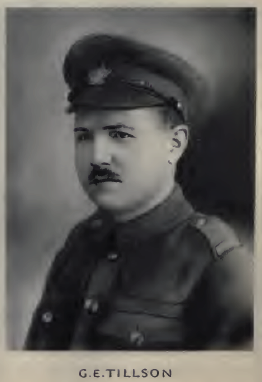 Photo of George Edwin Tillson– Source: Memorial of the Great War, 1914-1918 : a record of service