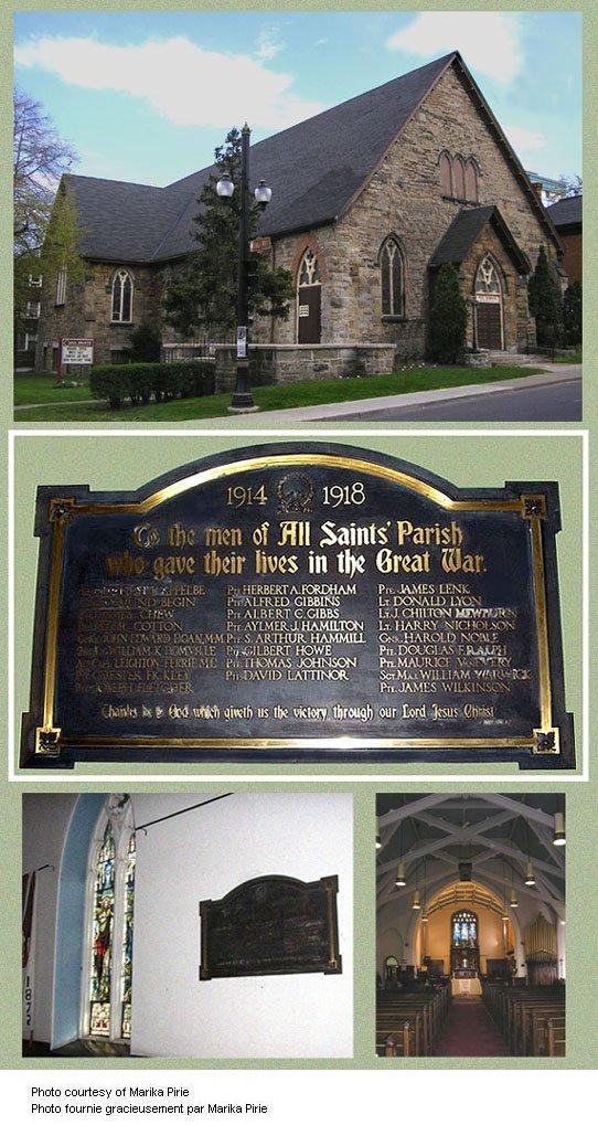 All Saints' Anglican Church Memorial Plaque