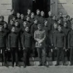 """Group Photo– Stone Frigate 1914 - Royal Military College of Canada 1011 Major John Garnett Tatlow MC (RMC 1914) was the son of Elizabeth M. Tatlow, of 3689, Cartier Av., Vancouver, British Columbia, and the late R.G. Tatlow. (Finance Minister of British Columbia.). He served with the Lord Strathcona's Horse (Royal Canadians), R.C.A.C., """"A"""" Sqdn. He died on 23 Mar 1918 at 21 years of age. He was buried in the Chauny Communal Cemetery British Extension in Aisne, France."""
