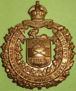 """Badge– 1011 Major John Garnett Tatlow MC (RMC 1914) was the son of Elizabeth M. Tatlow, of 3689, Cartier Av., Vancouver, British Columbia, and the late R.G. Tatlow. (Finance Minister of British Columbia.). He served with the Lord Strathcona's Horse (Royal Canadians), R.C.A.C., """"A"""" Sqdn. He died on 23 Mar 1918 at 21 years of age. He was buried in the Chauny Communal Cemetery British Extension in Aisne, France."""
