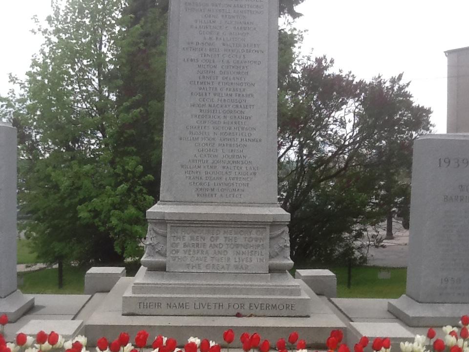 Cenotaph– Barrie Cenotaph