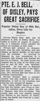 Newspaper clipping– The Morning Leader (Regina) - August 30, 1918