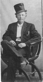 Photo of Oscar Olsen– Oscar Olsen, Son of Abel and Anna Olsen, Round Valley, Nebraska