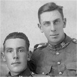 Brothers– Brothers - Taken in France.  Harold survived although badly gassed and wounded. He died 1974.  They were very close.