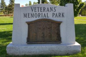 Cenotaph– Private Albert Vincent Wood is also commemorated on the WWI cenotaph in Orillia, ON … photo courtesy of Marg Liessens