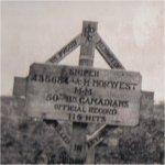 Original  Grave Marker– Gravesite marker erected by members 50th Battalion.