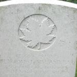 Grave marker– Photo of grave marker courtesy Wilf Schofield, England